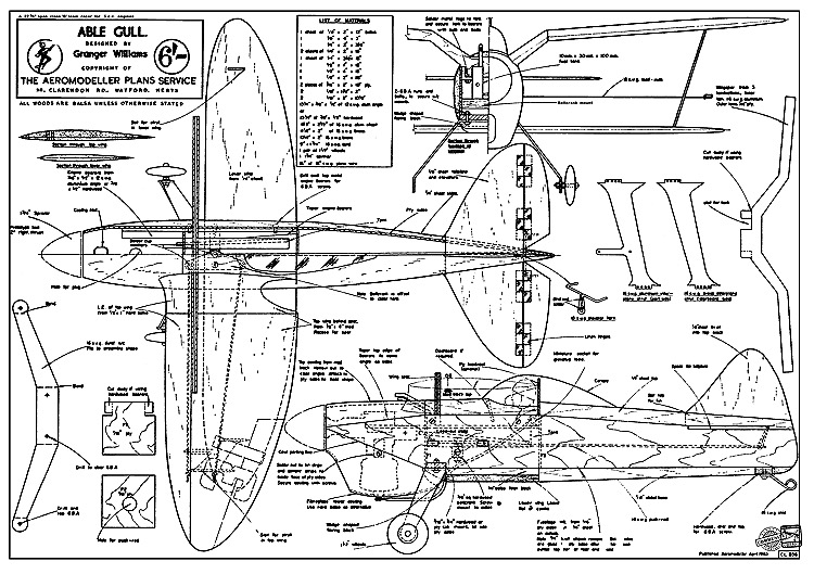 Able Gull CL model airplane plan