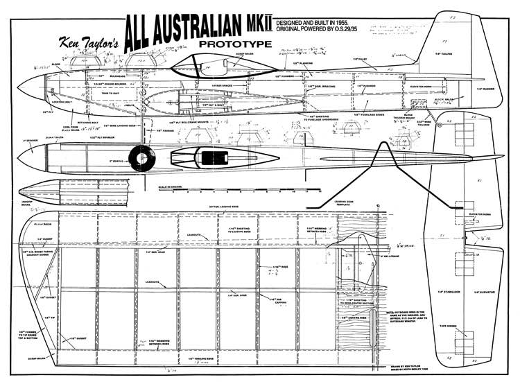All Australian MkII model airplane plan