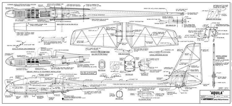 Aquila Plans Aerofred Download Free Model Airplane Plans