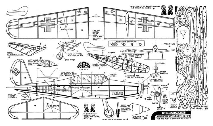 Arado Ar 96 model airplane plan