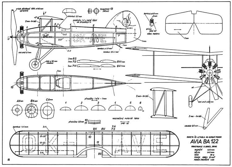Avia BA-122 model airplane plan
