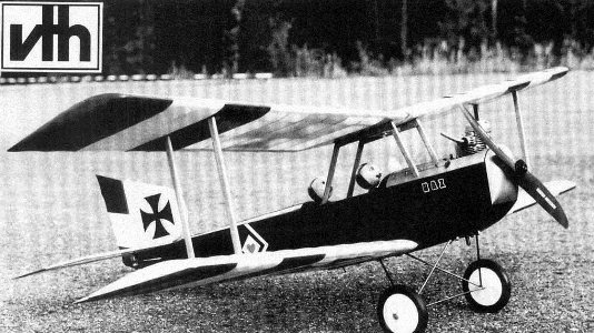 Aviatik II model airplane plan