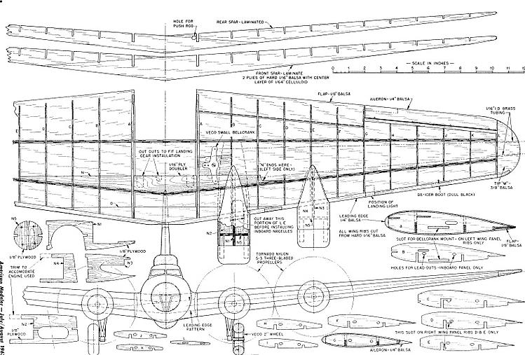 Boeing B17-G model airplane plan