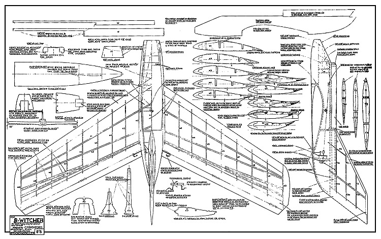 B-Witcher model airplane plan