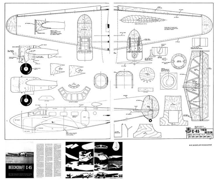 Beechcraft C 45 Plans Aerofred Download Free Model
