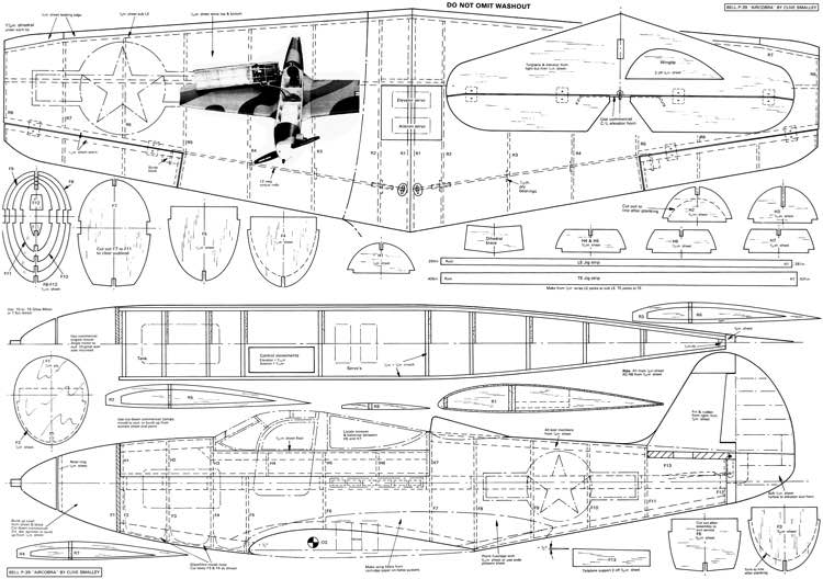 Bell P 39 Airacobra Plans Aerofred Download Free Model