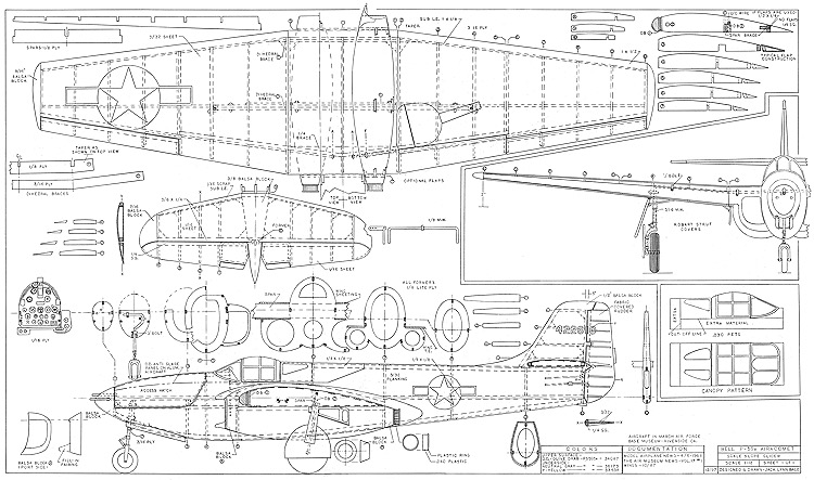 Bell P-59A Airacomet model airplane plan