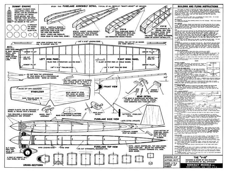 Berkeley V 16 Plans Aerofred Download Free Model