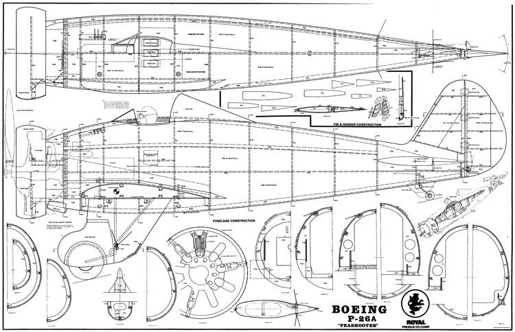 boeing p-26a peashooter plans - aerofred