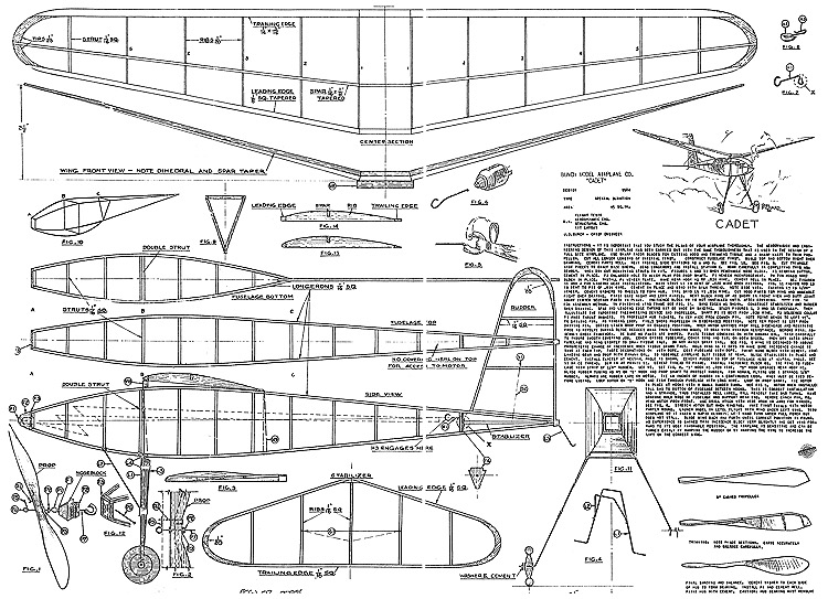 Cadet Bunch 20in model airplane plan