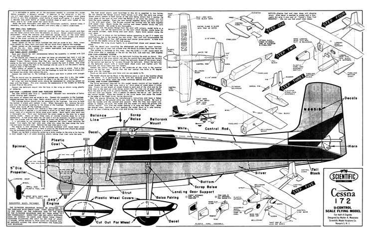 Cessna 172 by Scientific model airplane plan