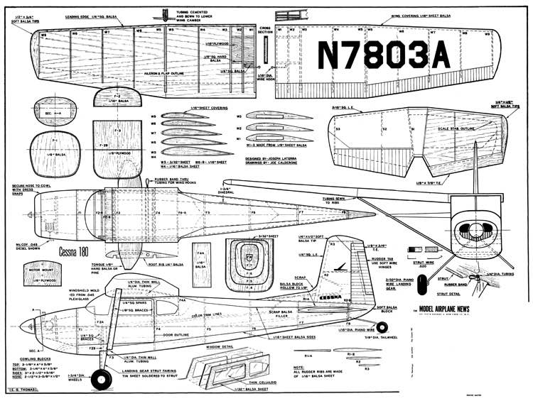 Cessna 180 Plans Aerofred Download Free Model Airplane