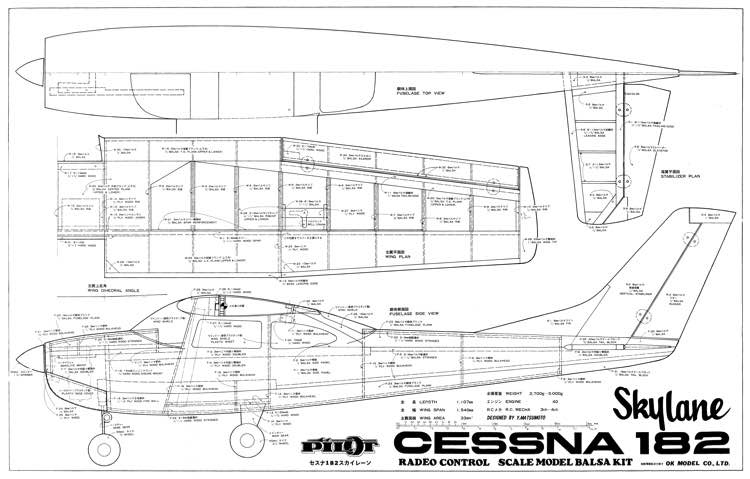 Cessna 182 SkylaneAeroFred - Free Model Airplane Plans