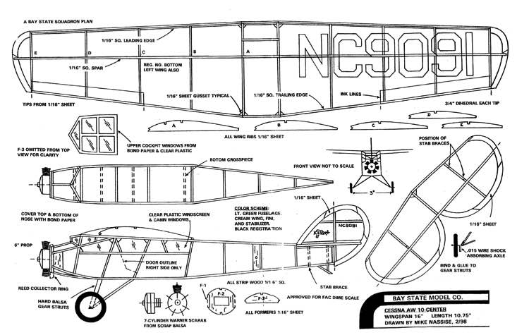 Cessna AW-10 model airplane plan
