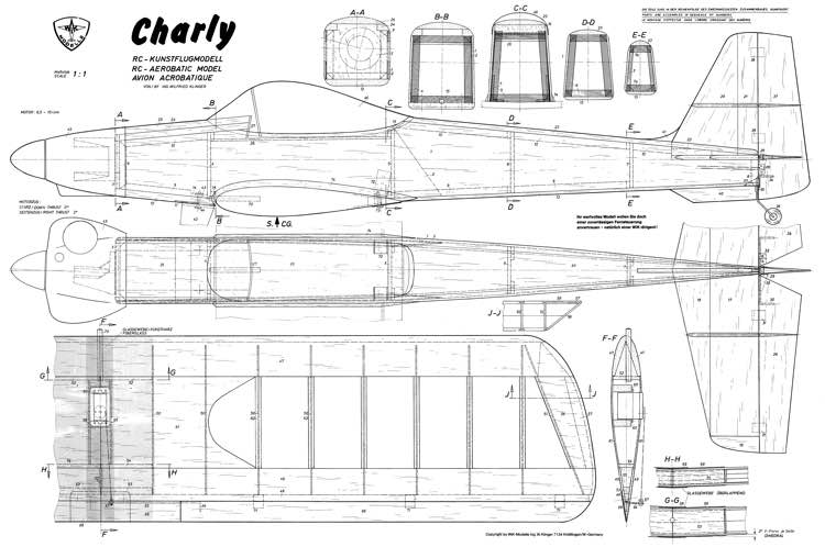 Charly Wik model airplane plan