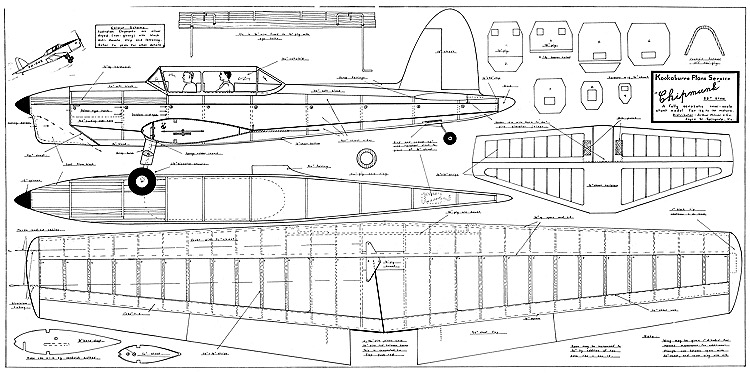 Chipmunk Stunt model airplane plan