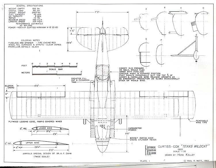 Curtiss cox texas wildcat plans aerofred download free for Cox plans