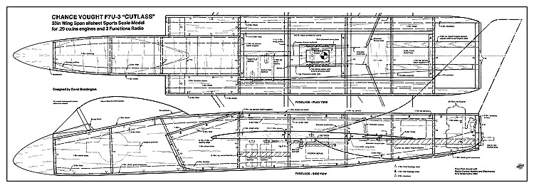 Cutlass model airplane plan