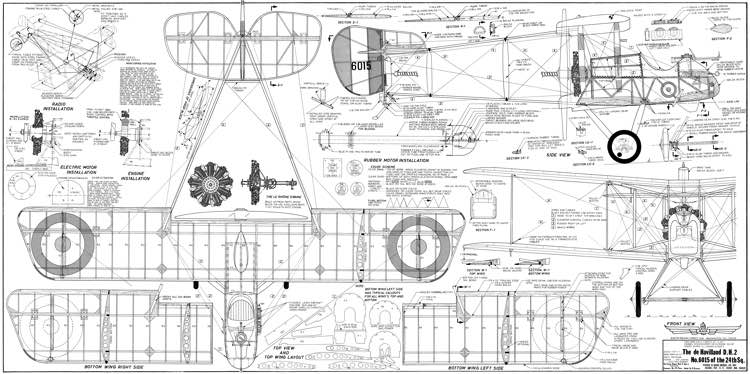 Airco DH 2 model airplane plan