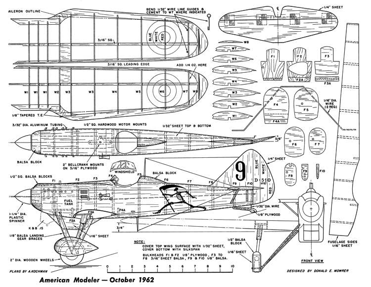 Dewoitine D-510 AM-10-62 model airplane plan