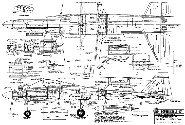 Double Eagle RCM-860 model airplane plan