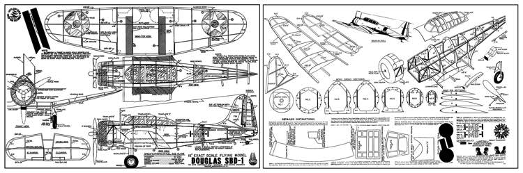 Douglas SBD-1 Dauntless model airplane plan