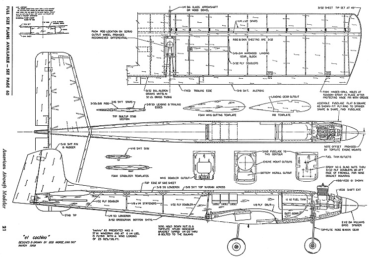 El Cochino-AAM-03-69 model airplane plan