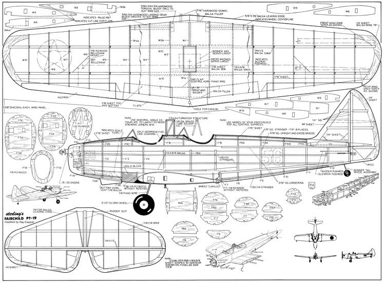 Fairchild Pt 19aerofred Free Model Airplane Plans