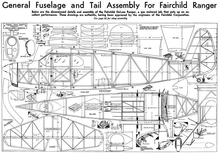 Fairchild 24 model airplane plan