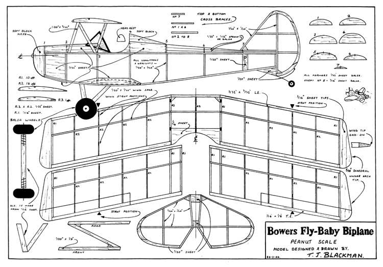 fly baby biplane plans aerofred download free model