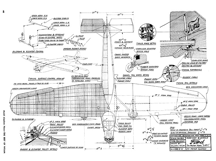 Ford Tri-motor 5-ATC model airplane plan