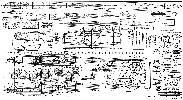 G5S-5 TTSE 2C RCM-1058 model airplane plan