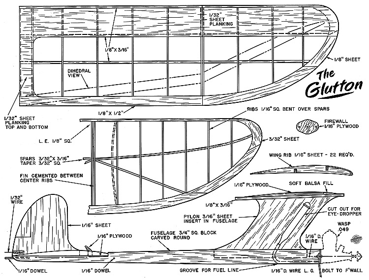Glutton 1951 AT model airplane plan