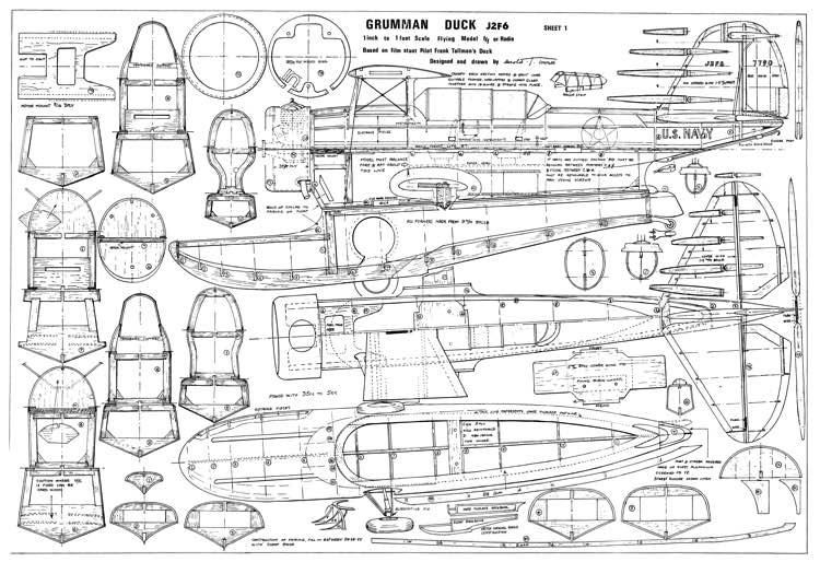 Grumman Duck J2F6 Plans - AeroFred - Download Free Model ...