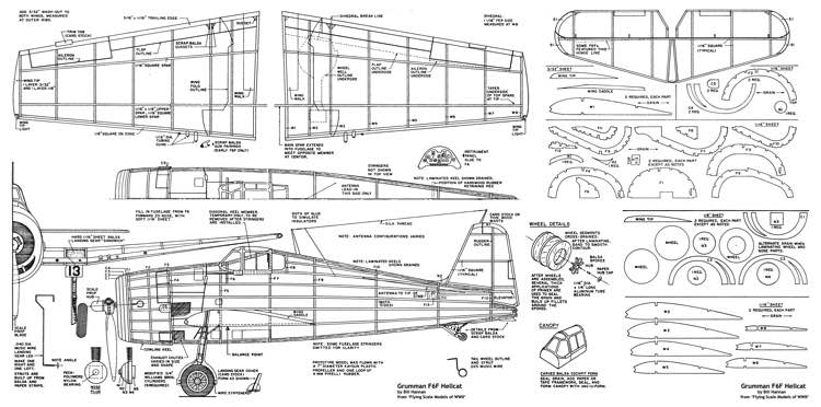 Hellcat Bill Hannan model airplane plan
