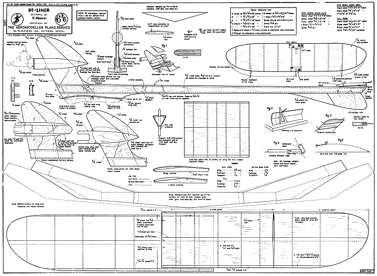 Hi-Liner model airplane plan