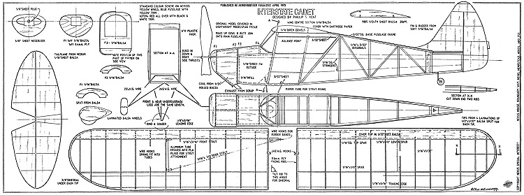 Interstate Cadet model airplane plan