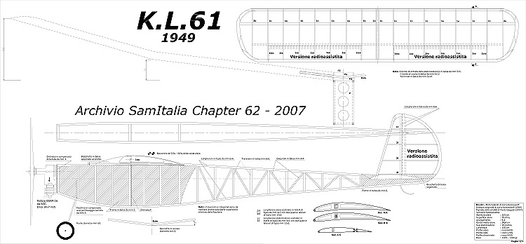 KL-61 1949 model airplane plan