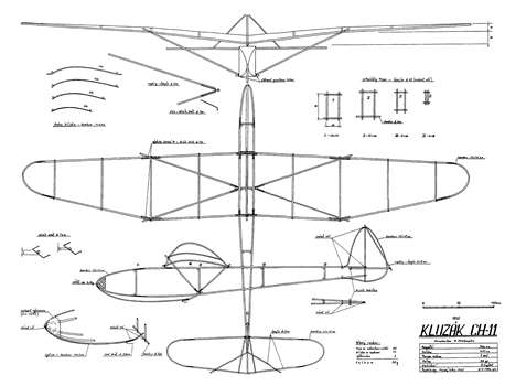 Kluzak CH 11AeroFred - Free Model Airplane Plans