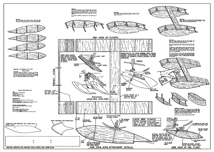Lazy Bee Floats model airplane plan