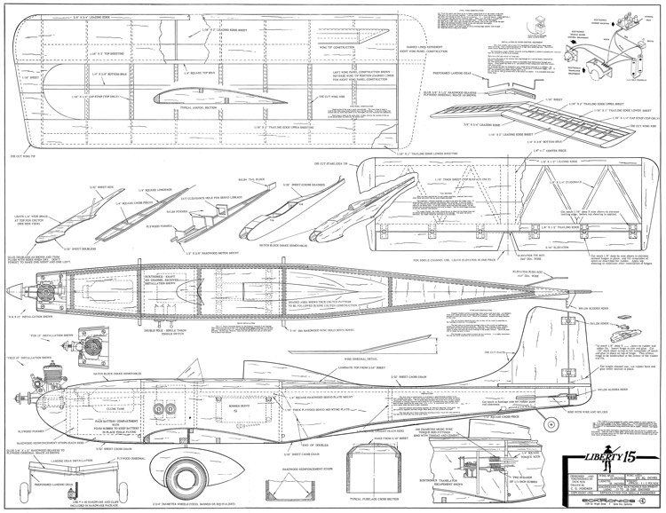 Liberty 15 model airplane plan