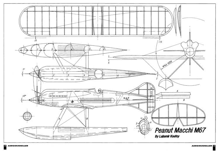 Macchi M.67 model airplane plan