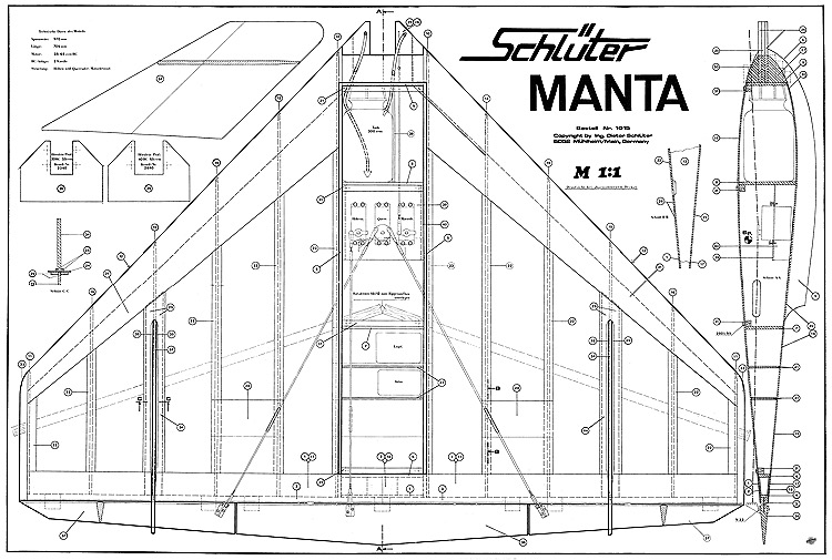 Manta Schluter model airplane plan