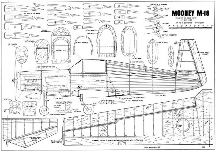 mooney m-18 plans - aerofred