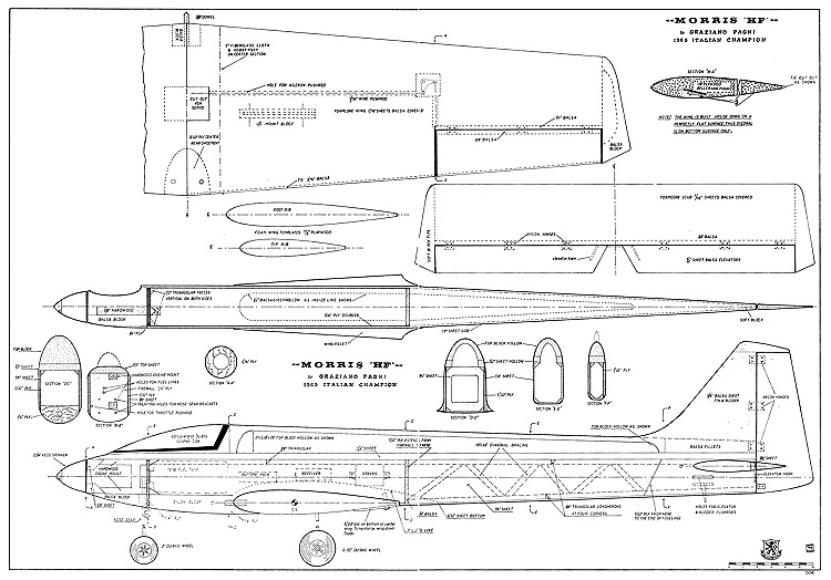 Morris HF RCM-504 model airplane plan