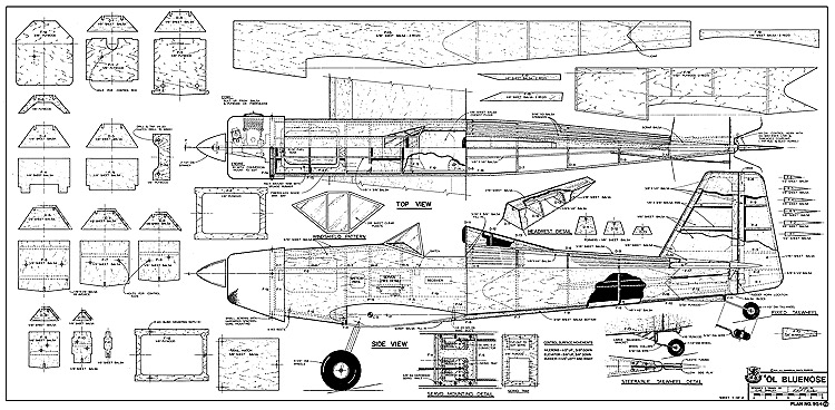 Ol Bluenose RCM-954 model airplane plan