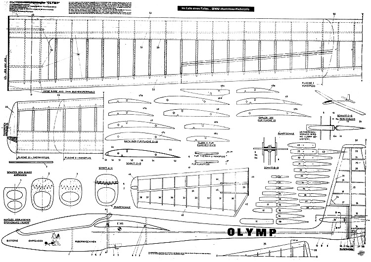 Olymp Graupner model airplane plan