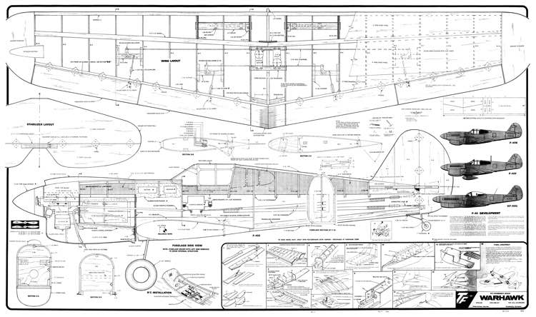 P-40 Warhawk Plans - AeroFred - Download Free Model ...