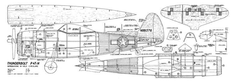 P-47N Thunderbolt CL model airplane plan