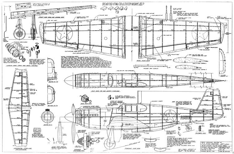 north american p-51a mustang plans - aerofred